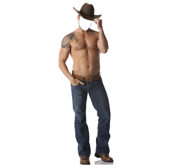 SHIRTLESS COWBOY STANDIN PARTY SUPPLIES