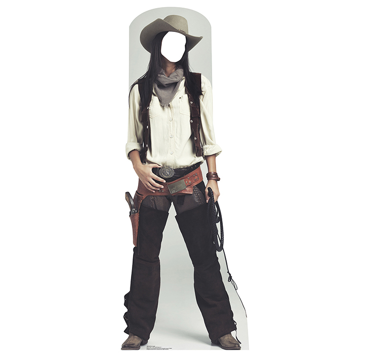 WILD WEST COWGIRL STANDIN PARTY SUPPLIES