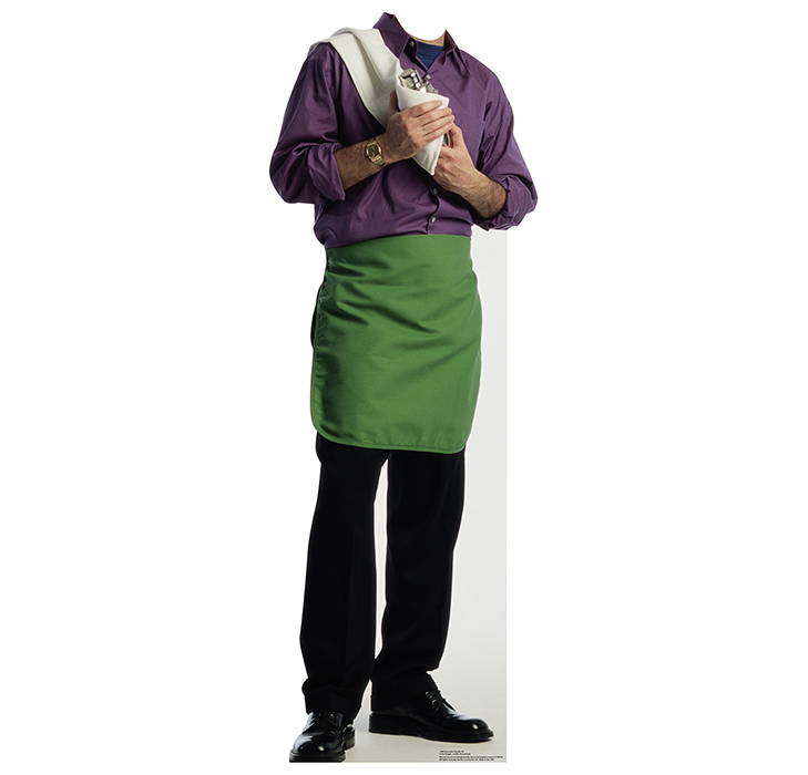 GREEN APRON BARTENDER STANDIN PARTY SUPPLIES