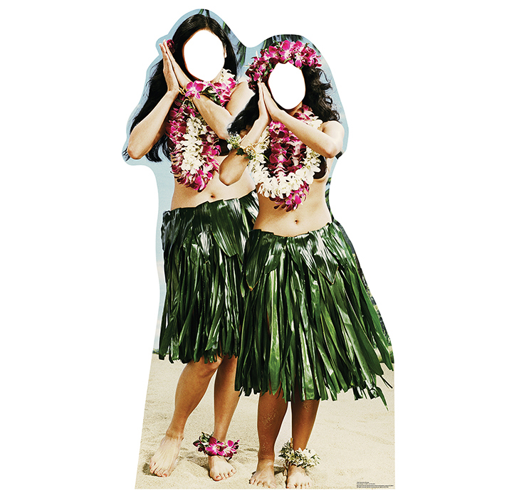 HAWAIIAN HULA GIRLS STANDIN PARTY SUPPLIES