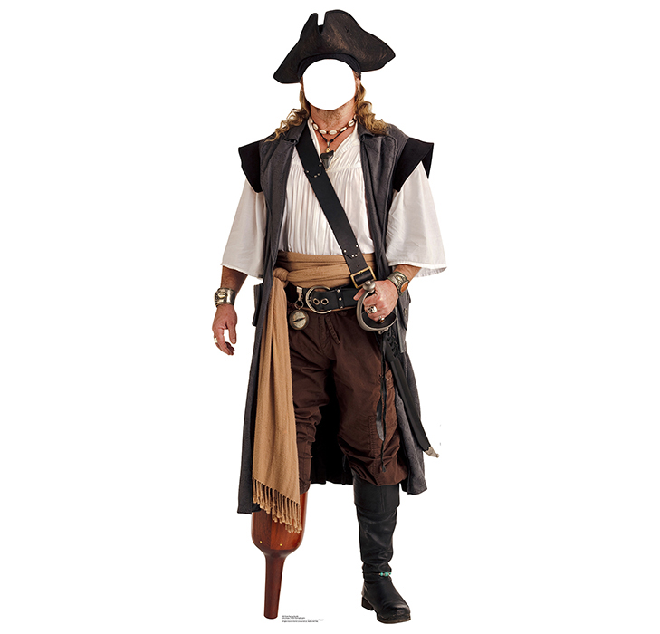 PIRATE PEG LEG STANDIN PARTY SUPPLIES