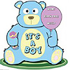 IT'S A BOY TEDDY BEAR LIFESIZE STANDUP PARTY SUPPLIES
