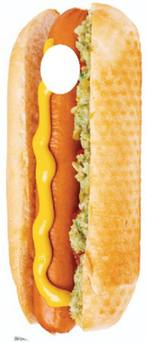 Click for larger picture of HOT DOG STAND IN LIFESIZE STANDUP PARTY SUPPLIES