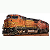 BNSF TRAIN 526 LIFESIZE STANDUP PARTY SUPPLIES