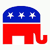 REPUBLICAN ELEPHANT LIFESIZE STANDUP PARTY SUPPLIES