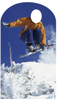 Click for larger picture of SNOWBOARDER STAND IN LIFESIZE STANDUP PARTY SUPPLIES