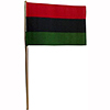 AFRICAN AMERICAN HANDHELD FLAG (4X6 IN.) PARTY SUPPLIES