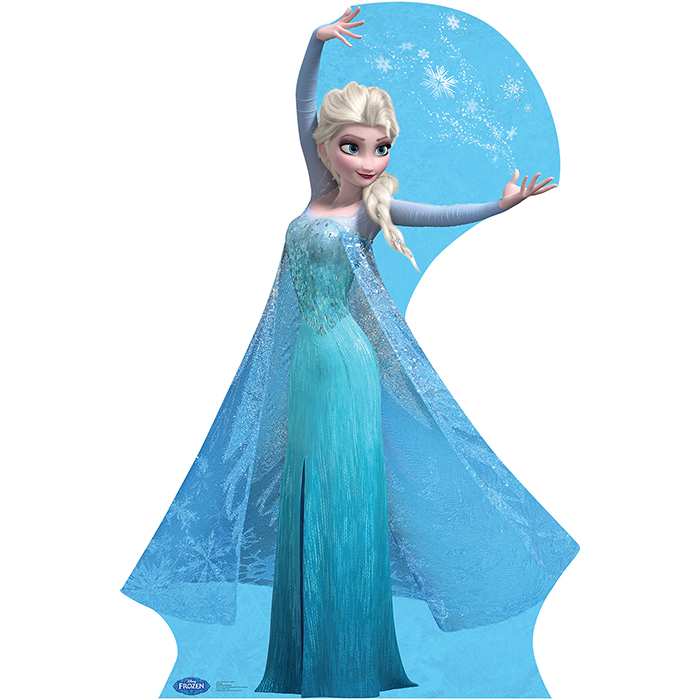 Click For Larger Picture Of ELSA SNOW FLAKES FROZEN LIFESIZE STANDUP PARTY SUPPLIES