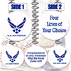 AIR FORCE CUSTOM DANGLER PARTY SUPPLIES