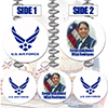 AIR FORCE CUSTOM PHOTO DANGLER PARTY SUPPLIES
