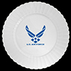 AIR FORCE PLASTIC BANQUET PLATE 8/PKG PARTY SUPPLIES