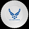 AIR FORCE PLASTIC DESSERT PLATE 8/PKG PARTY SUPPLIES