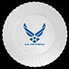 AIR FORCE PLASTIC DINNER PLATE 8/PKG PARTY SUPPLIES