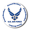 AIR FORCE PROUD BROTHER BUTTON PARTY SUPPLIES
