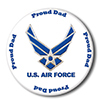 AIR FORCE PROUD DAD BUTTON PARTY SUPPLIES