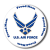 AIR FORCE PROUD MOM BUTTON PARTY SUPPLIES