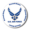 AIR FORCE PROUD SISTER BUTTON PARTY SUPPLIES