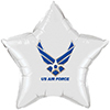 AIR FORCE WINGS WHITE STAR BALLOON PARTY SUPPLIES