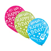 DISCONTINUED NEON BIRTHDAY LATEX BALLOON PARTY SUPPLIES