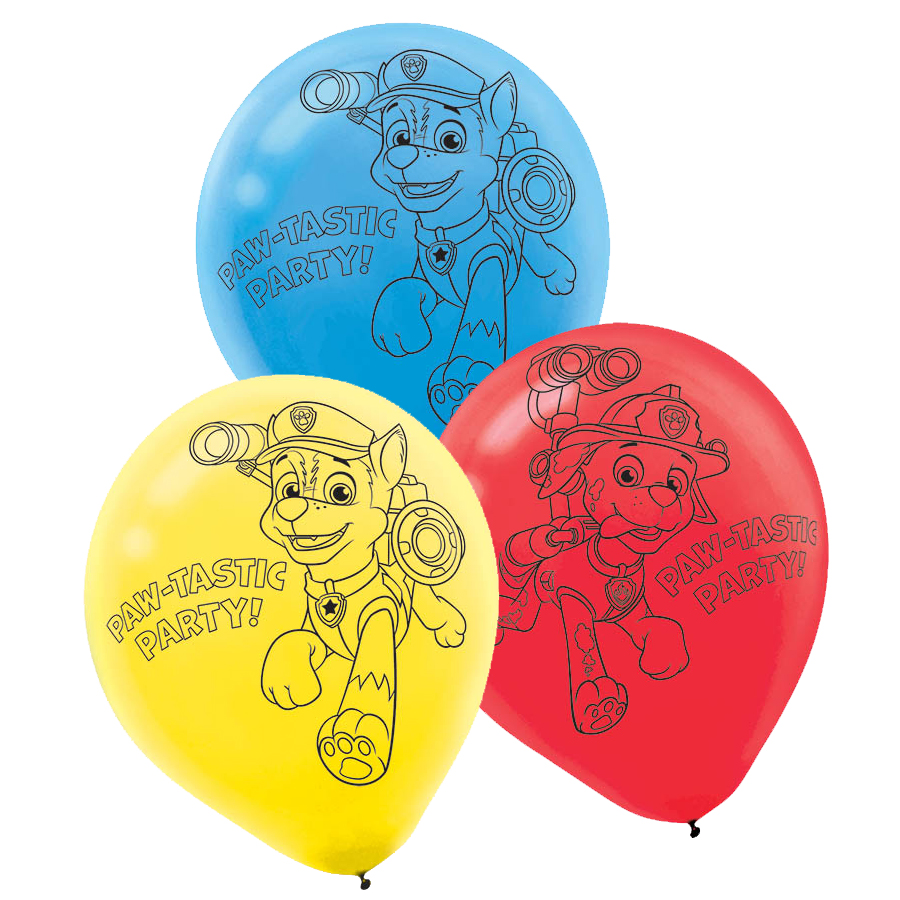 PAW PATROL LATEX BALLOONS PARTY SUPPLIES