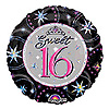 SWEET 16 SPARKLE MYLAR BALLOON (18IN.) PARTY SUPPLIES