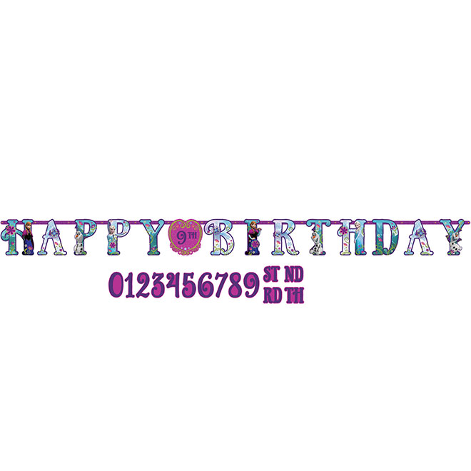 FROZEN JUMBO LETTER BANNER PARTY SUPPLIES