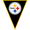 PITTSBURGH STEELERS PENNANT BANNER PARTY SUPPLIES