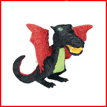 Click for larger picture of PINATA-BLACK DRAGON PARTY SUPPLIES
