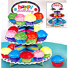 BIRTHDAY CUPCAKE STAND PARTY SUPPLIES