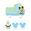 MICKEY 1ST BIRTHDAY CANDLE SET PARTY SUPPLIES