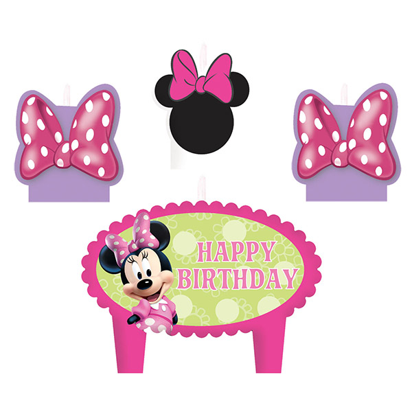 DISCONTINUED MINNIE MOUSE CANDLE SET PARTY SUPPLIES