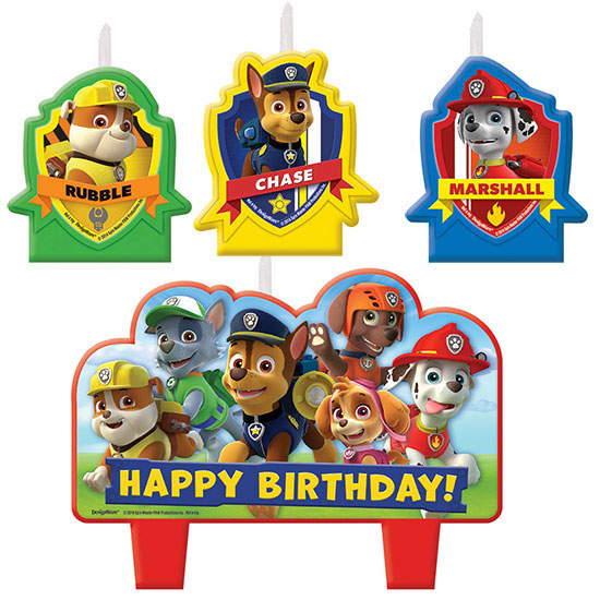 PAW PATROL CANDLE SET PARTY SUPPLIES