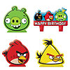 ANGRY BIRDS MINI CANDLE SET PARTY SUPPLIES