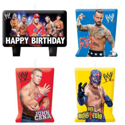 Kids Birthday Party Supplies H013051366308 Party Supplies WWE Mini Candle Set