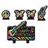 DISCONTINUED NEON BIRTHDAY CANDLE SET PARTY SUPPLIES