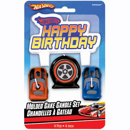 Click For Larger Picture Of DISCONTINUED HOT WHEELS SC CAKE CANDLE PARTY SUPPLIES