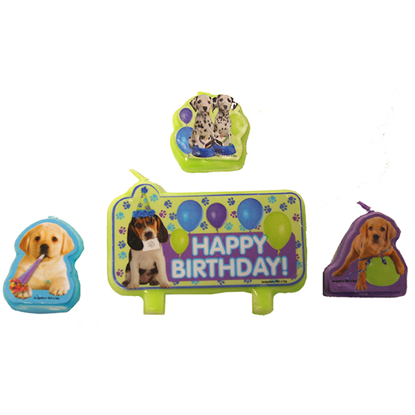 DISCONTINUED PARTY PUPS CANDLE SET PARTY SUPPLIES
