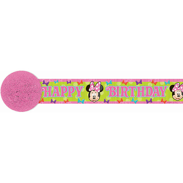 DISCONTINUED MINNIE MOUSE CREPE STREAMER PARTY SUPPLIES