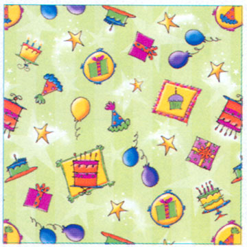 Click for larger picture of STARDUST BIRTHDAY GIFT WRAP ROLL PARTY SUPPLIES