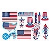 PATRIOTIC VALUE CUTOUTS DECORATIONS PARTY SUPPLIES