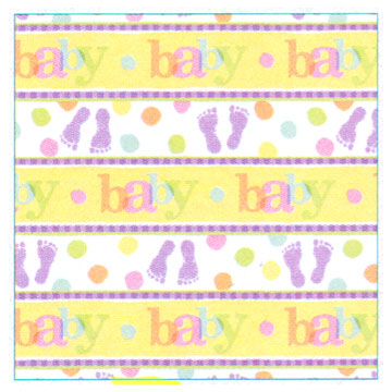 Click for larger picture of BABY STEPS GIFT WRAP ROLL PARTY SUPPLIES