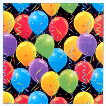 Click for larger picture of DISCONTINUED BALLOON SPLASH GIFT WRAP PARTY SUPPLIES