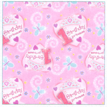 Click for larger picture of DISCONTINUED 1ST BDAY PRINCESS GIFT WRAP PARTY SUPPLIES