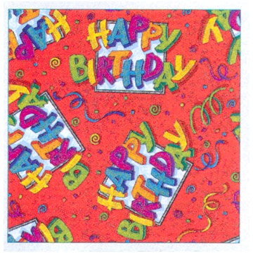 Click for larger picture of DISCONTINUED BIRTHDAY PARTY GIFT WRAP RL PARTY SUPPLIES