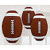 FOOTBALL SHAPED LANTERNS PARTY SUPPLIES