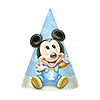 MICKEY 1ST BIRTHDAY CONE HAT PARTY SUPPLIES