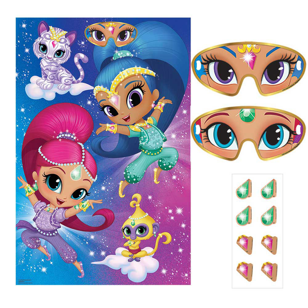 Click For Larger Picture Of SHIMMER SHINE PARTY GAME SUPPLIES