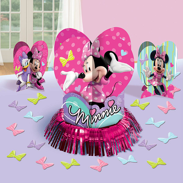 DISCONTINUED MINNIE MOUSE TABLE DECR KIT PARTY SUPPLIES