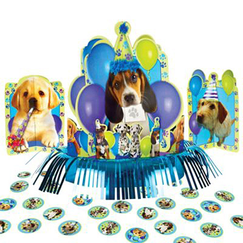 Click For Larger Picture Of PARTY PUPS TABLE DECORATING KIT SUPPLIES