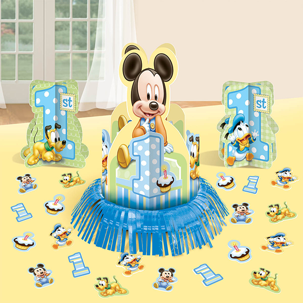 MICKEY'S 1ST BIRTHDAY TABLE DECORATIONS PARTY SUPPLIES